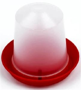 Picture of Aviary Drinker Red/transparent 1 Litre 16.5x15cm