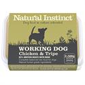 Picture of Natural Instinct Working Dog Chicken & Tripe 2x500g