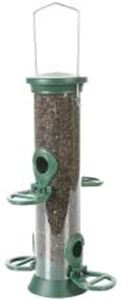 Picture of Cj Challenger Plastic Nyjer Feeder Green 4 Port Small 20cm
