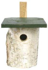 Picture of Cj Birch Log Nest Box 32mm Hole