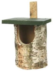 Picture of Cj Birch Log Nest Box Open Front
