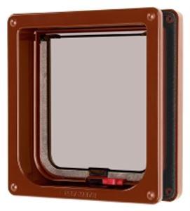 Picture of Lockable Cat Flap & Liner Brown 16.5x17.4cm