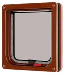 Picture of Lockable Cat Flap Brown 16.5x17.4cm