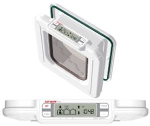 Picture of Elite Radio Frequency Super Selective Cat Flap White 16.6x19.2cm