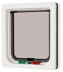 Picture of 4 Way Locking Cat Flap White 16.5x17.4cm