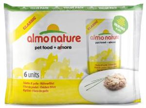 Picture of Almo Nature Classic Cat Pouch Value Pack Chicken Fillet 6 X 55g