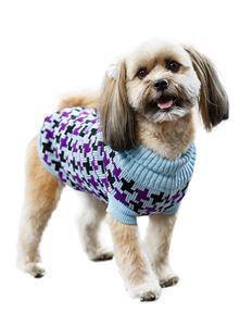 Picture of Blue / Purple Cross Checked Dog Sweater