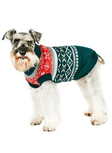 Picture of Green Norwegian Vintage Dog Sweater