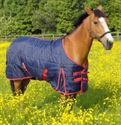Picture of Horse Rug Moonlite Stable Standard Navy/red 2 Tone 7'