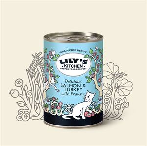 Picture of Lily's Kitchen Salmon & Turkey With Prawns 400g