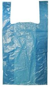 """Picture of Recycled Plastic Carrier Bag Blue 11x17x21"""""""