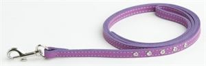 Picture of Doggy Things Fantasia Leather Dog Lead Plum 115 X1.4cm