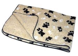 """Picture of Fleece Blanket Cream Small 74x61cm (29x24"""")"""