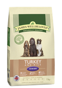 Picture of James Wellbeloved Turkey & Rice Senior 2kg