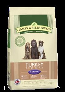 Picture of James Wellbeloved Turkey & Rice Senior 7.5kg