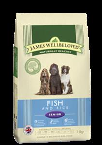 Picture of James Wellbeloved Fish & Rice Senior 7.5kg