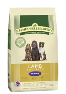 Picture of James Wellbeloved Lamb & Rice Senior 7.5kg