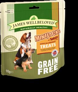 Picture of James Wellbeloved Minijacks Grain Free Turkey 90g