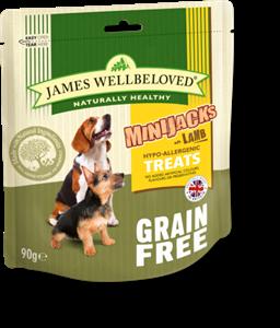 Picture of James Wellbeloved Minijacks Grain Free Lamb 90g